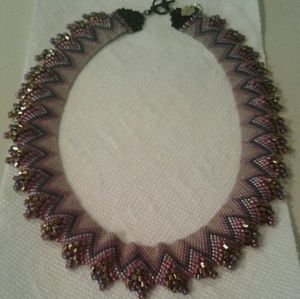 Jewelry - A beaded collar necklace.